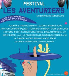 Affiche du Festival des Aventuriers 2020 à Fontenay-sous-Bois