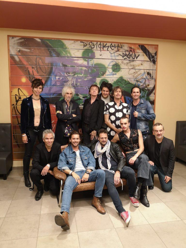 Les aventuriers d'un autre monde en 2019 (Mademoiselle K, Louis Bertignac, Cali, Saule, Richard Kolinka, Alain Verderosa, Sébastien Chouard)